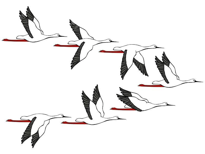 место рисунок летящих журавлей картинки утверждают психиатры